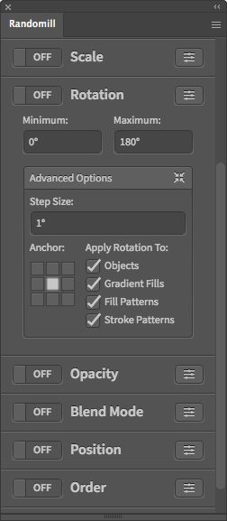 Illustrator Random Rotation Script
